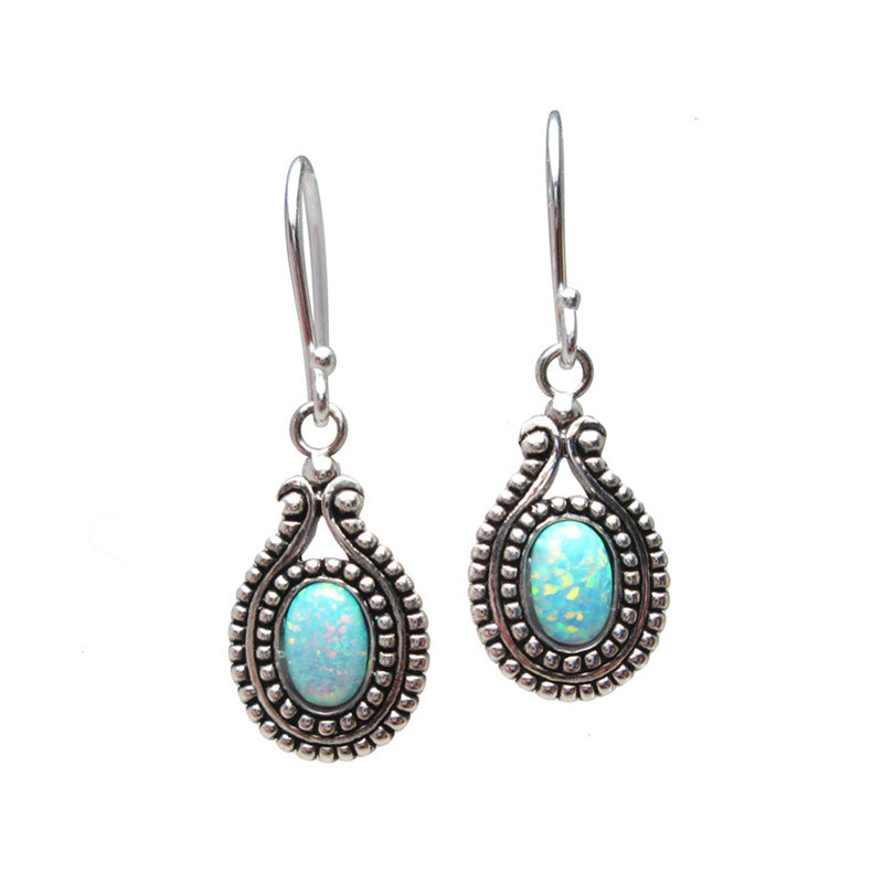 Silver Earrings with 'Opal' Stones 'Ubud'