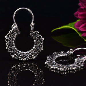 Silver Earrings 'Luhara'