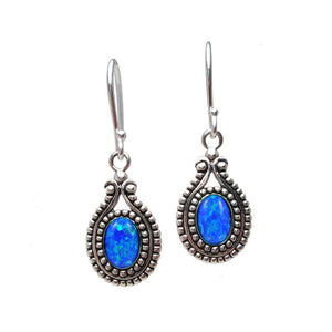 Silver Earrings with 'Opal' Stones 'Agari'