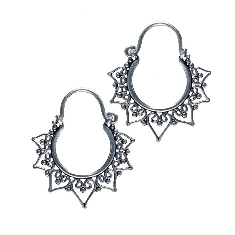 Small Heart Mandala Earrings
