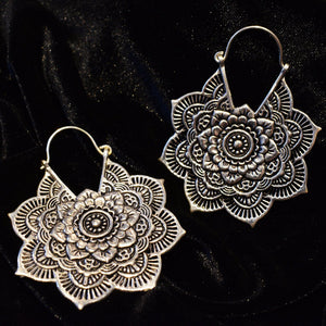 Silver Plated Mandala Earrings