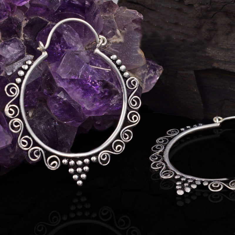 Tribal Hoop Earrings 'Junani'