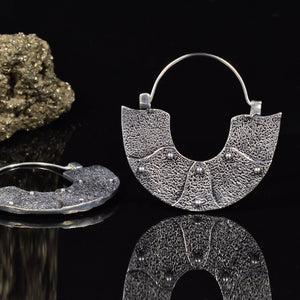 Silver Plated Viking Earrings