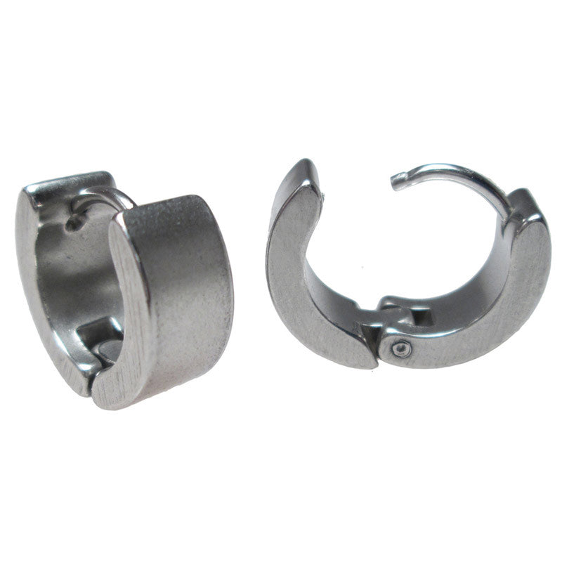 Huggies Earrings in Steel  'Devo'
