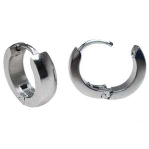 Huggies Earrings in Steel 'Bantam'