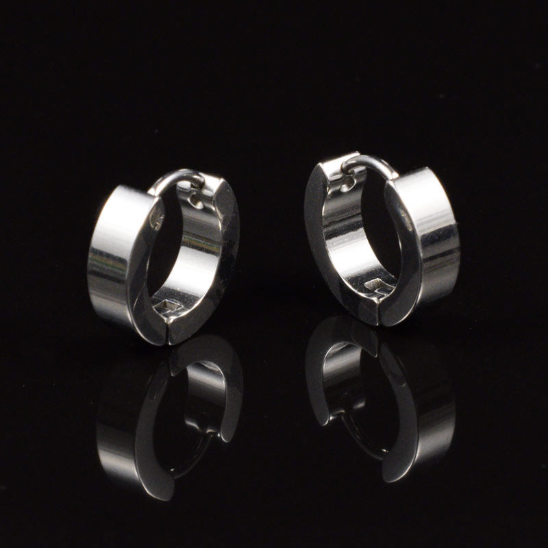 Steel Huggies Earrings 'Guzzi'