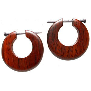 Wooden 'Osiris' Disc Earrings