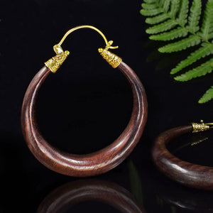 Wooden Hoop Earrings