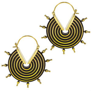 Tribal Wooden Earrings 'Kajrani'