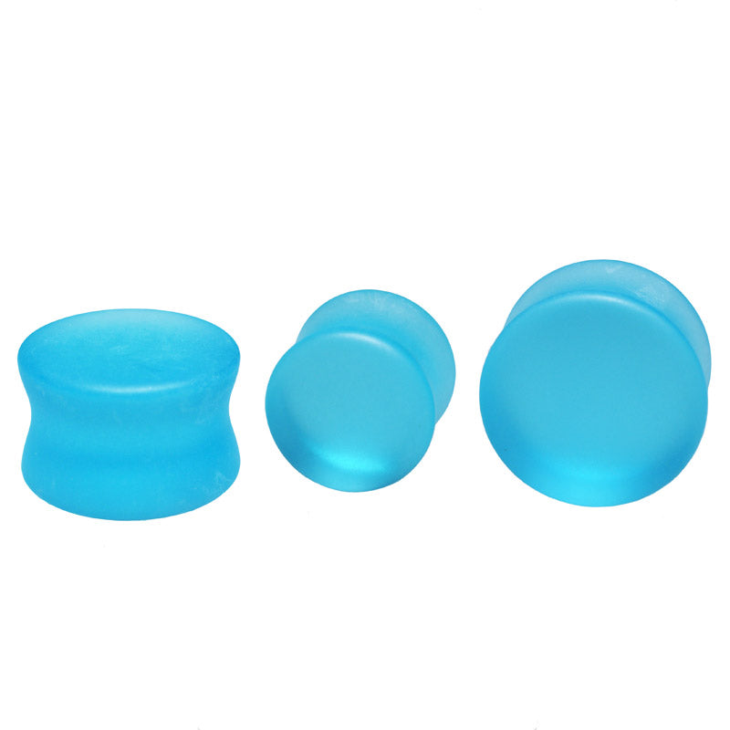 Aqua Sea Glass Flesh Plugs