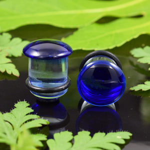Blue Glass Flesh Plugs