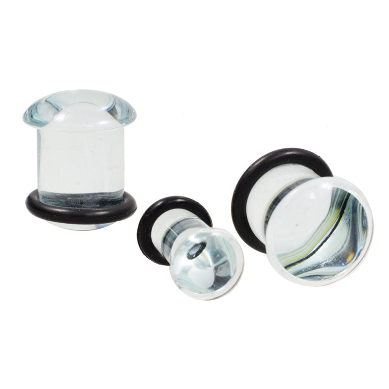 Clear Glass Flesh Plugs
