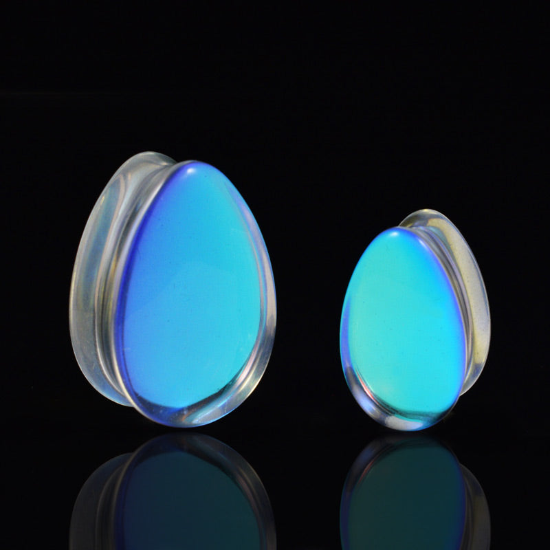 AB Glass Teardrop Plugs