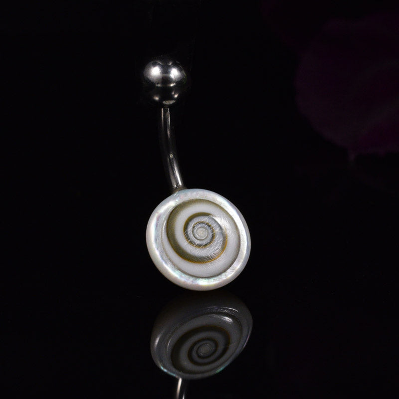 Shiva's Eye Shell Navel Bar