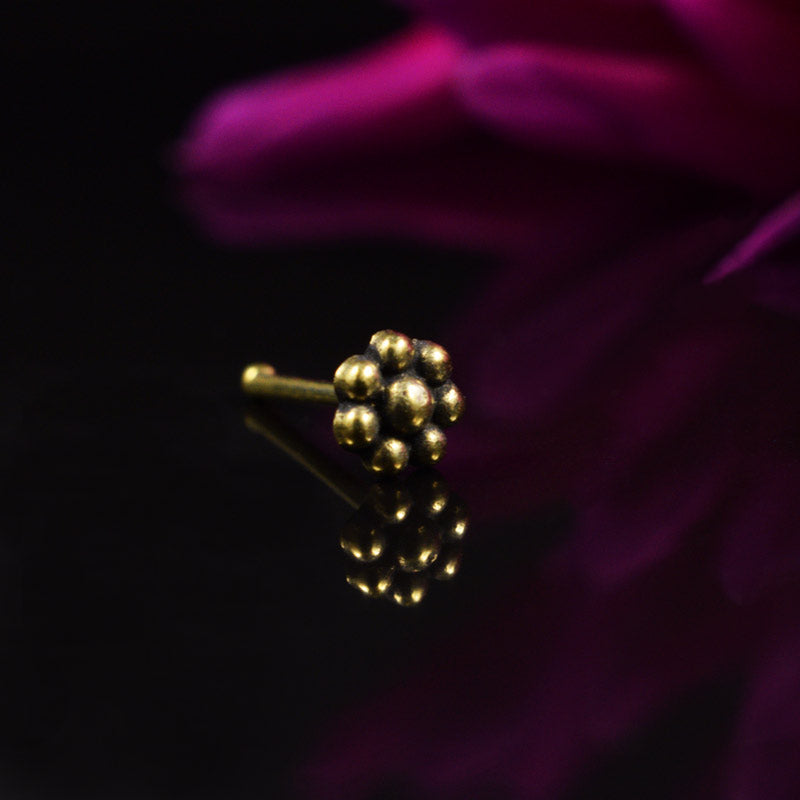 Tribal Brass Nose Stud Mendaja