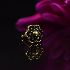 Tribal Brass Nose Stud Buruan