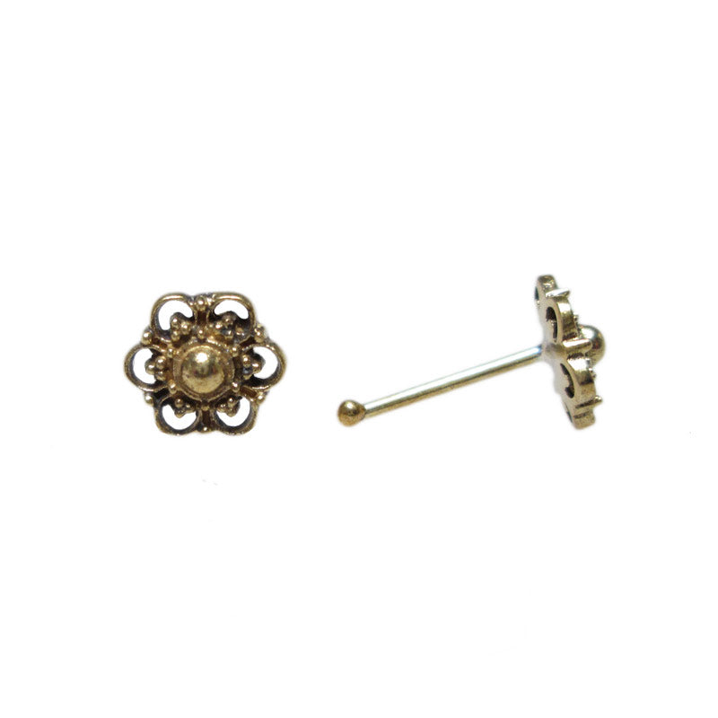 Tribal Brass Nose Stud 'Buruan'
