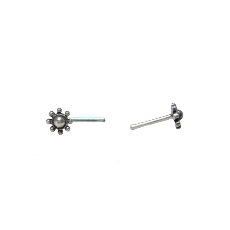 Tribal Indian Style Silver Nose Pin