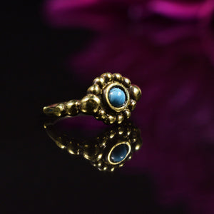 Brass Nose Ring with Turquoise Stone