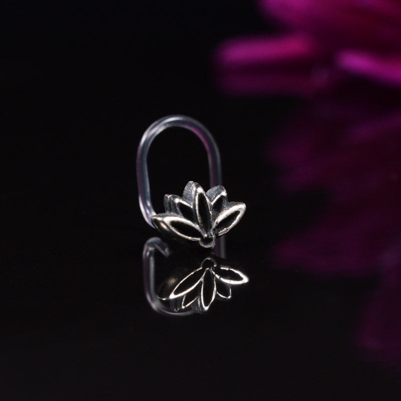 Silver Lotus Nose Screw