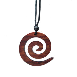 Spiral Pendant in Wood