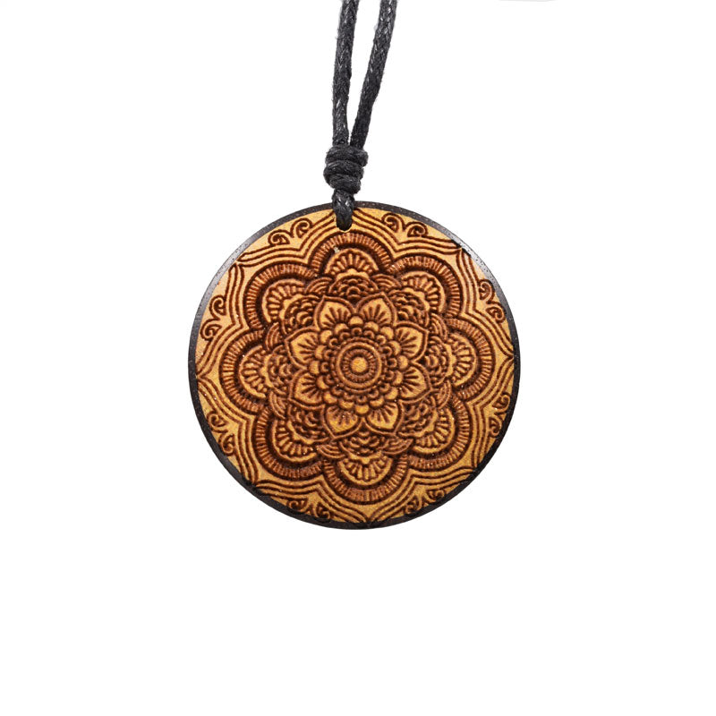 Mandala Pendant in Wood