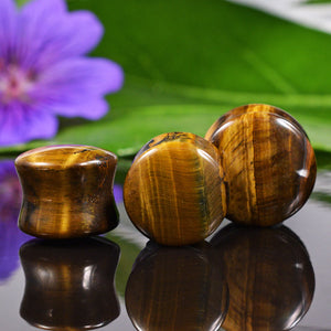 Tigers Eye Flesh Plug