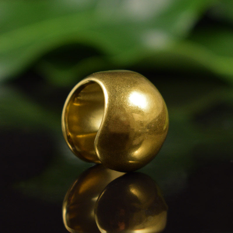 Gold Steel Ball Ear Weights