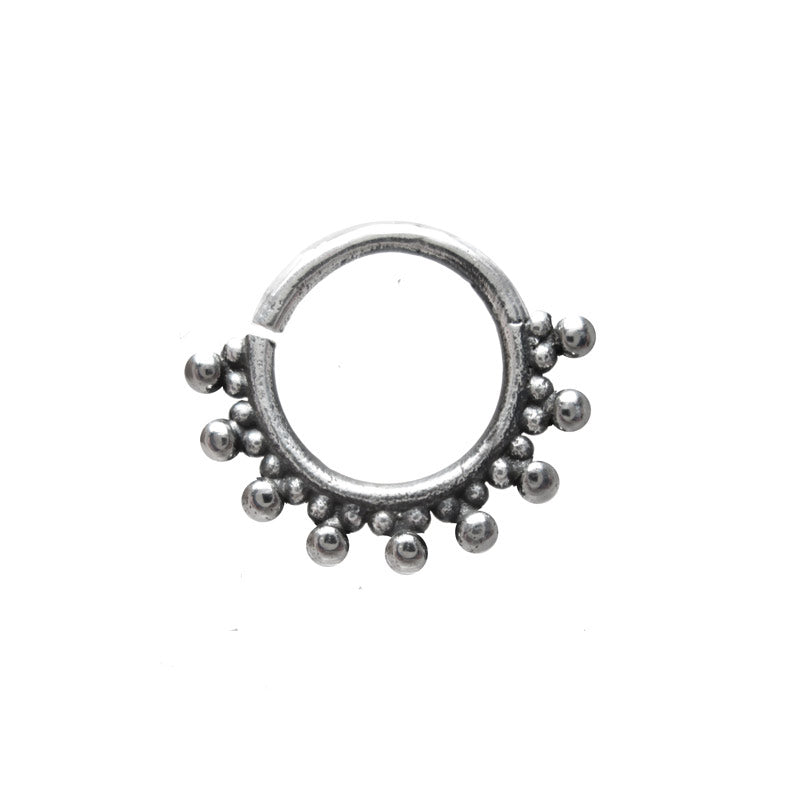 Tribal Indian Style Silver Septum Ring