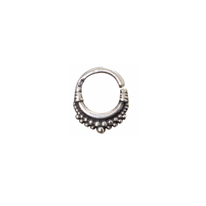Small Silver Tribal Twist Ring