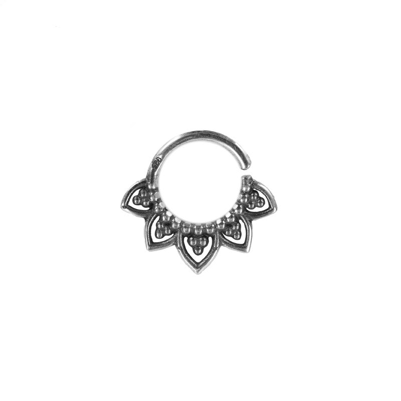 Silver Tribal Twist Ring