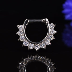 Septum Clicker Ring Clear