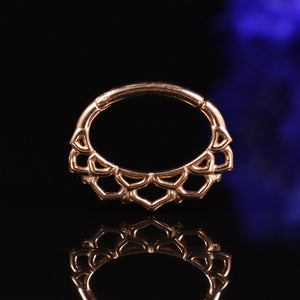 Lotus Clicker in Rose Gold for Septum or Daith