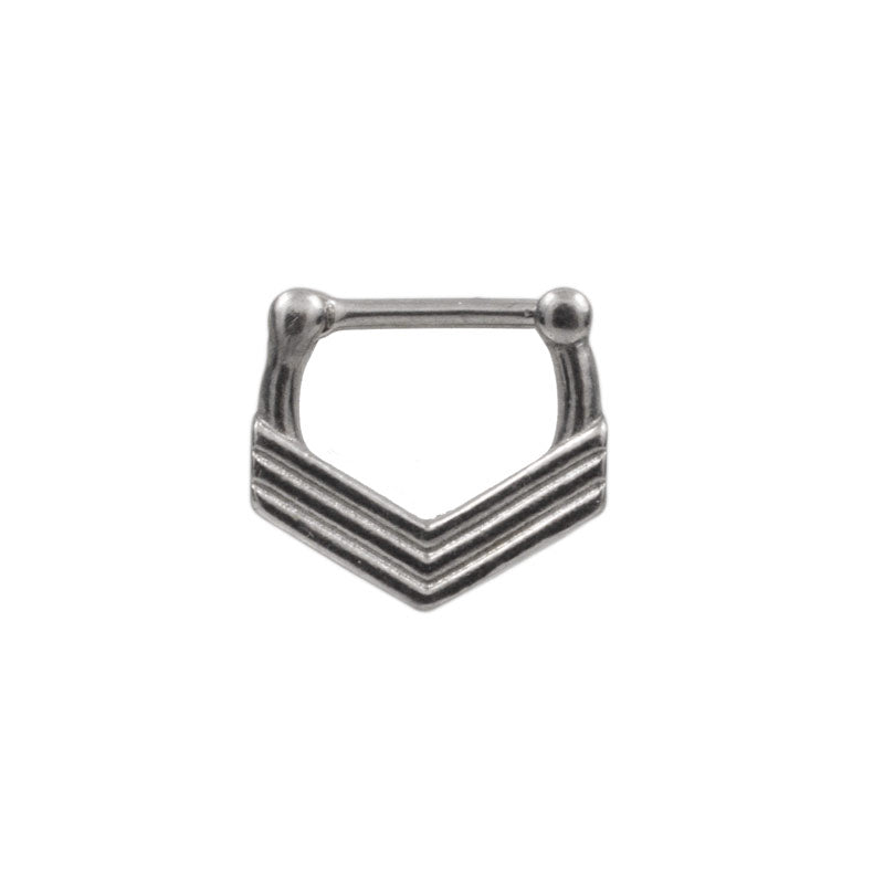 Triple Chevron Septum Clicker Ring