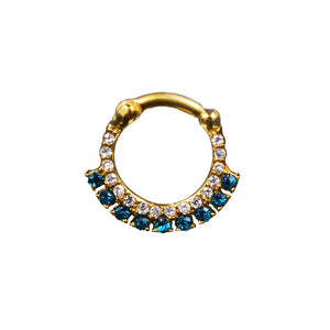 Gold PVD Septum Clicker with Gems
