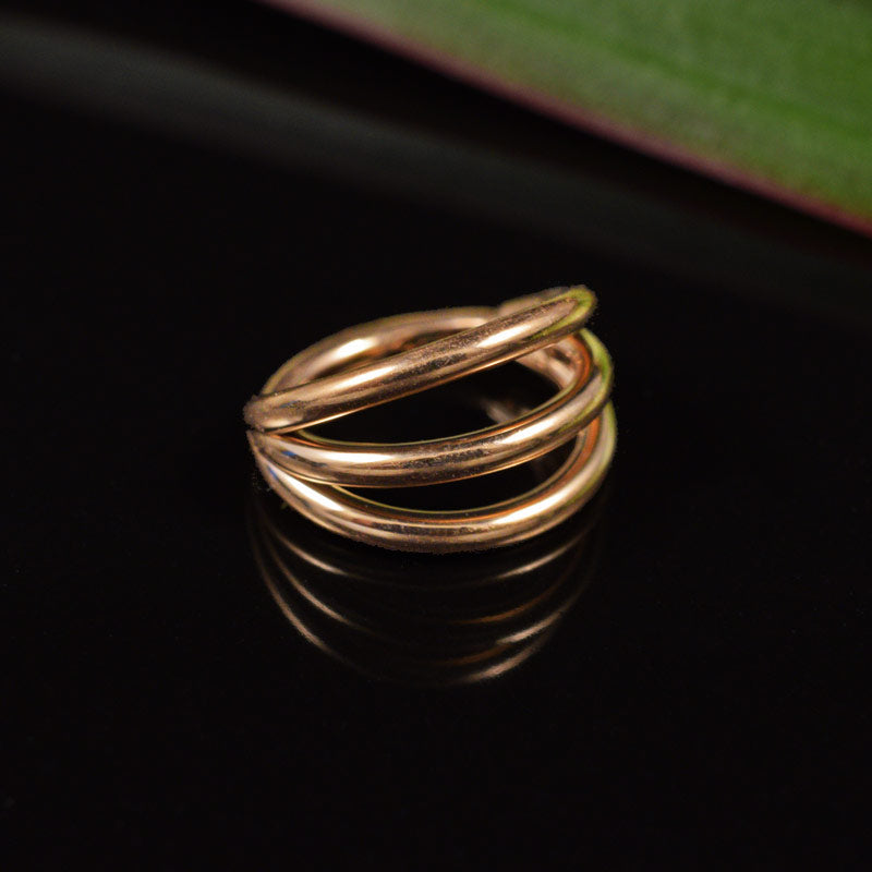 Triple Stack Ring in Rose Gold