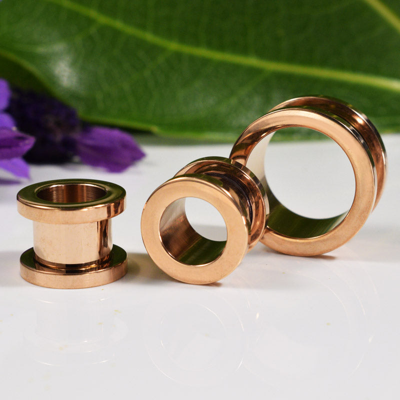 Rose Gold Ear Tunnel
