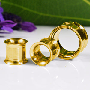 Internally Threaded Ear Tunnels in Gold Steel