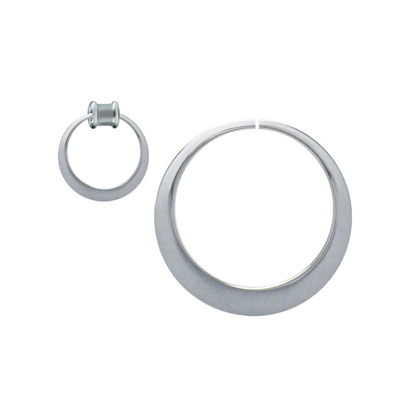 Large 6cm Steel Hoops for Ear Tunnels
