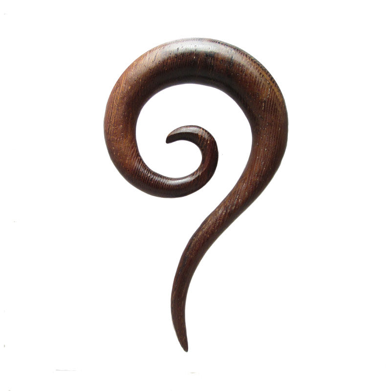 Thai Ear Spiral in Siamea Wood