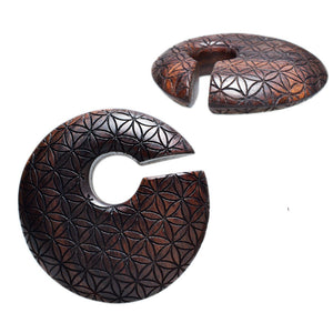 Flower of Life Discus Ear Hangers