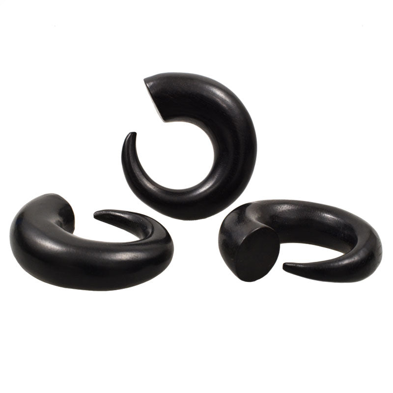 Black Wood Spiral Ear Talons