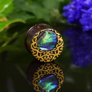 Lunar Crescent Abalone Flesh Plugs