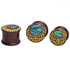 Moon Crescent Abalone Flesh Plugs