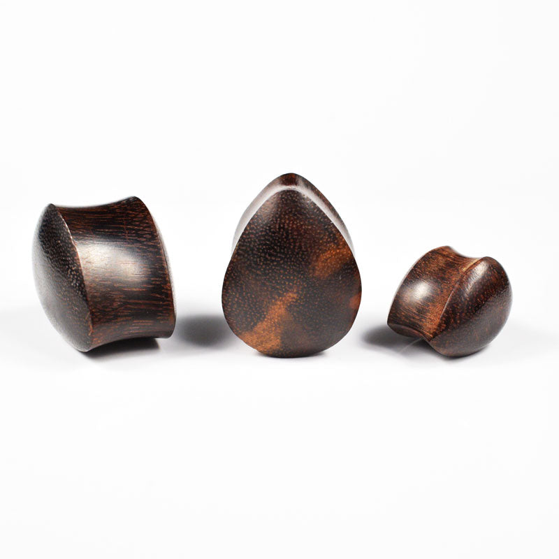 Wooden Teardrop Plugs
