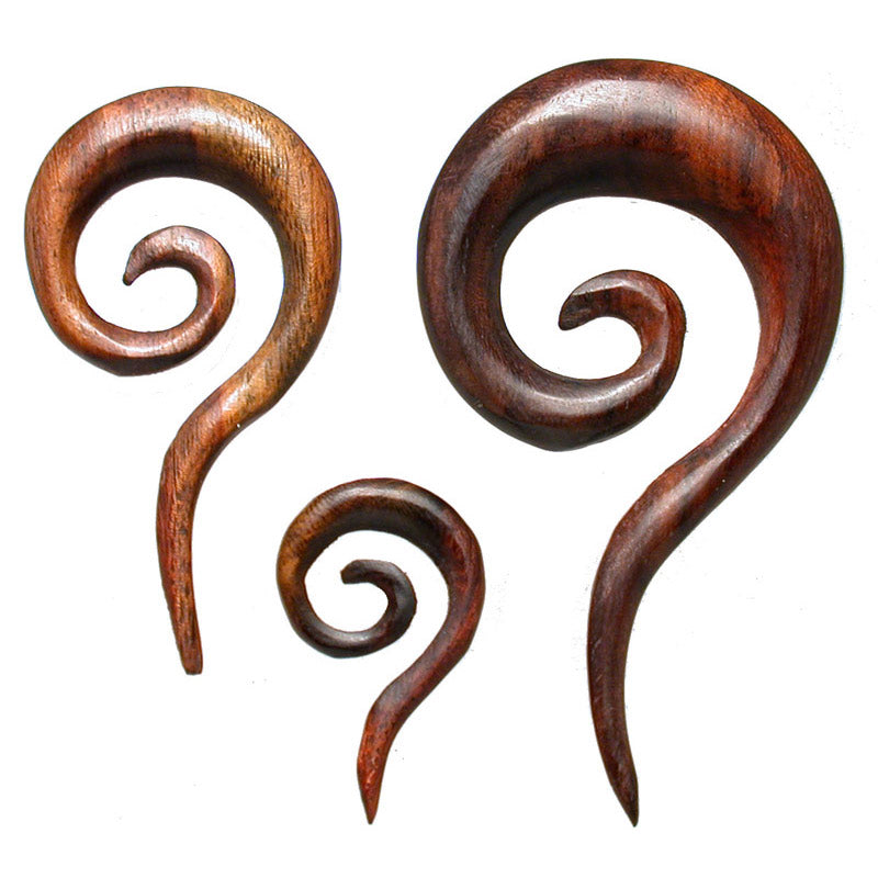 Narra Wood Ear Spiral