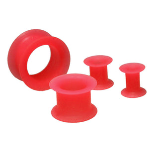Red Silicone Ear Tunnels