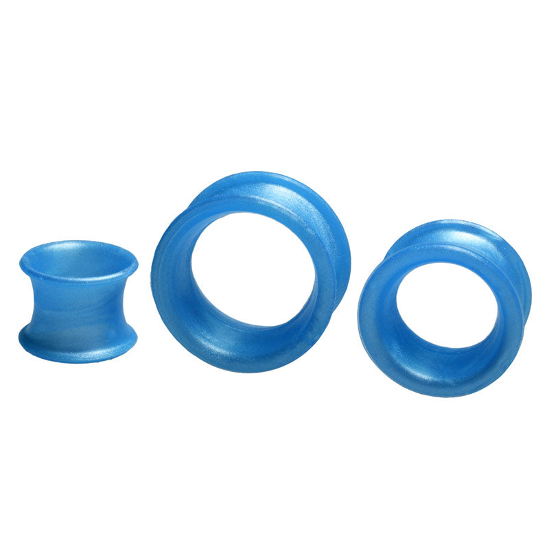 Metallic Blue Silicone Earskins