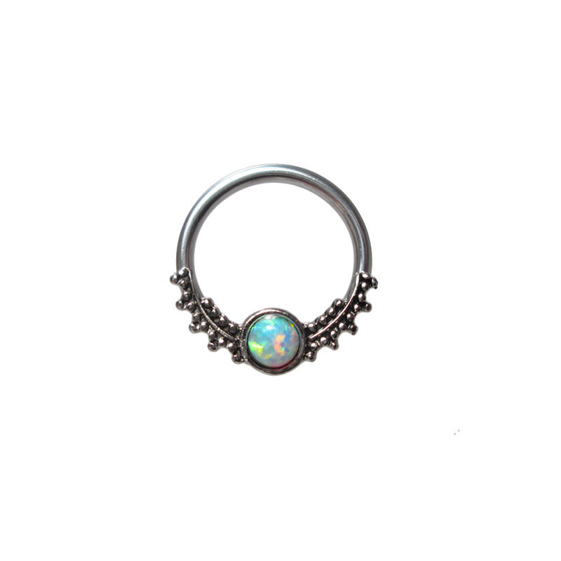 Tribal BCR Ring with Opalite Stone