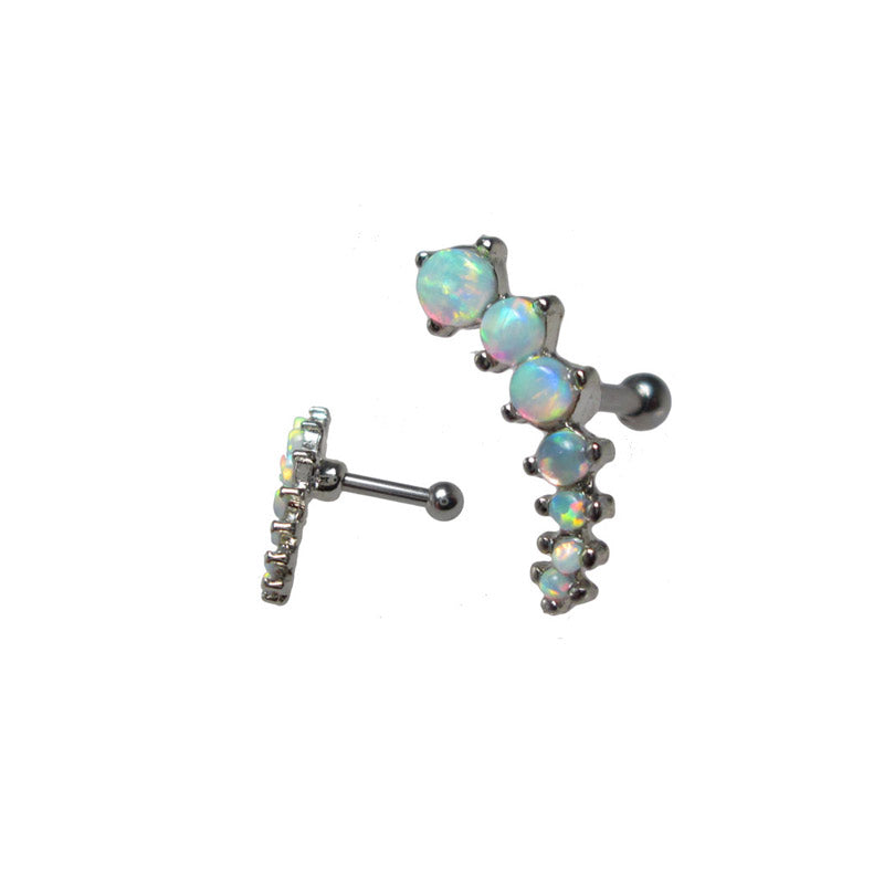 Opalite Cascade Helix Ear Bar Left